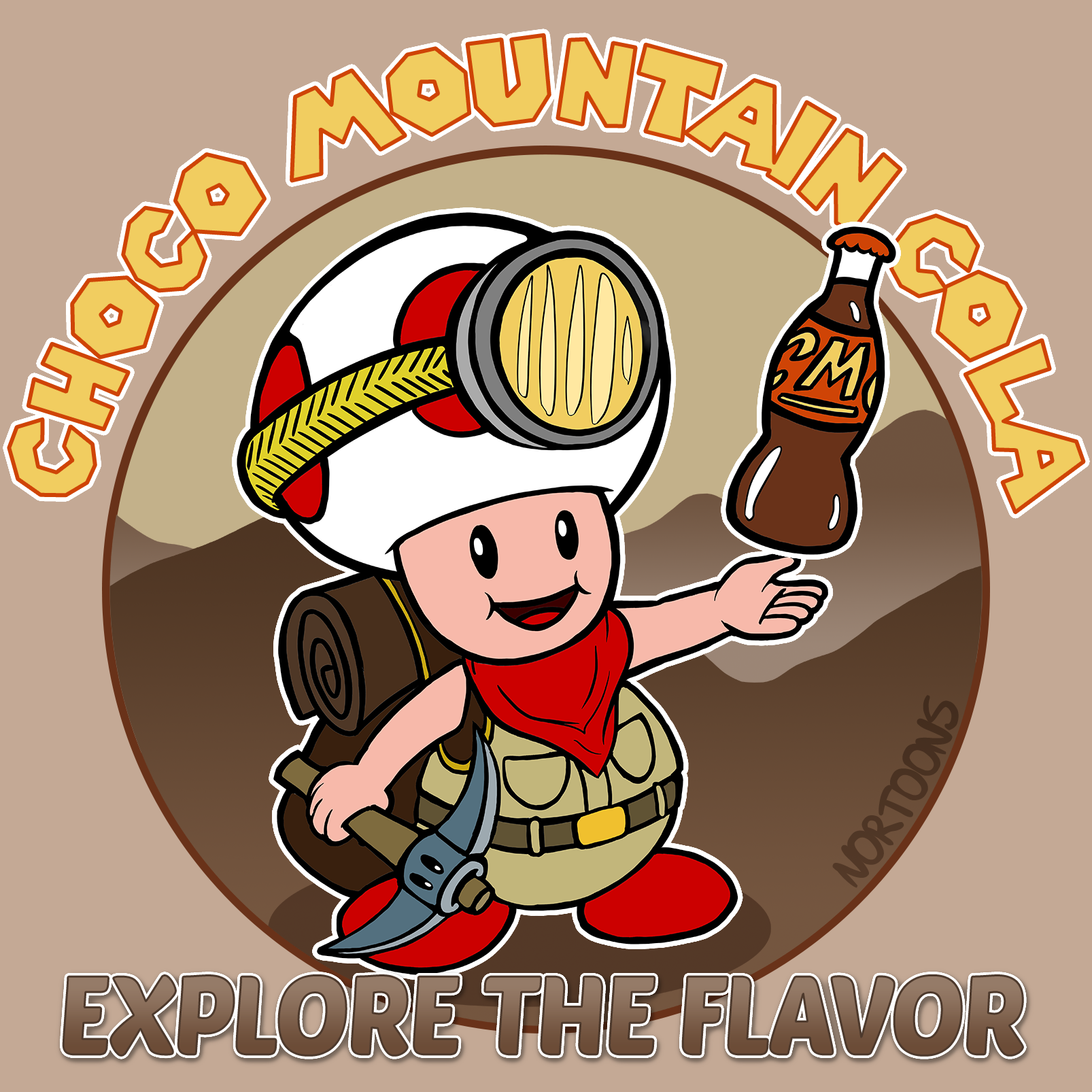Choco Mountain Cola featuring Captain Toad