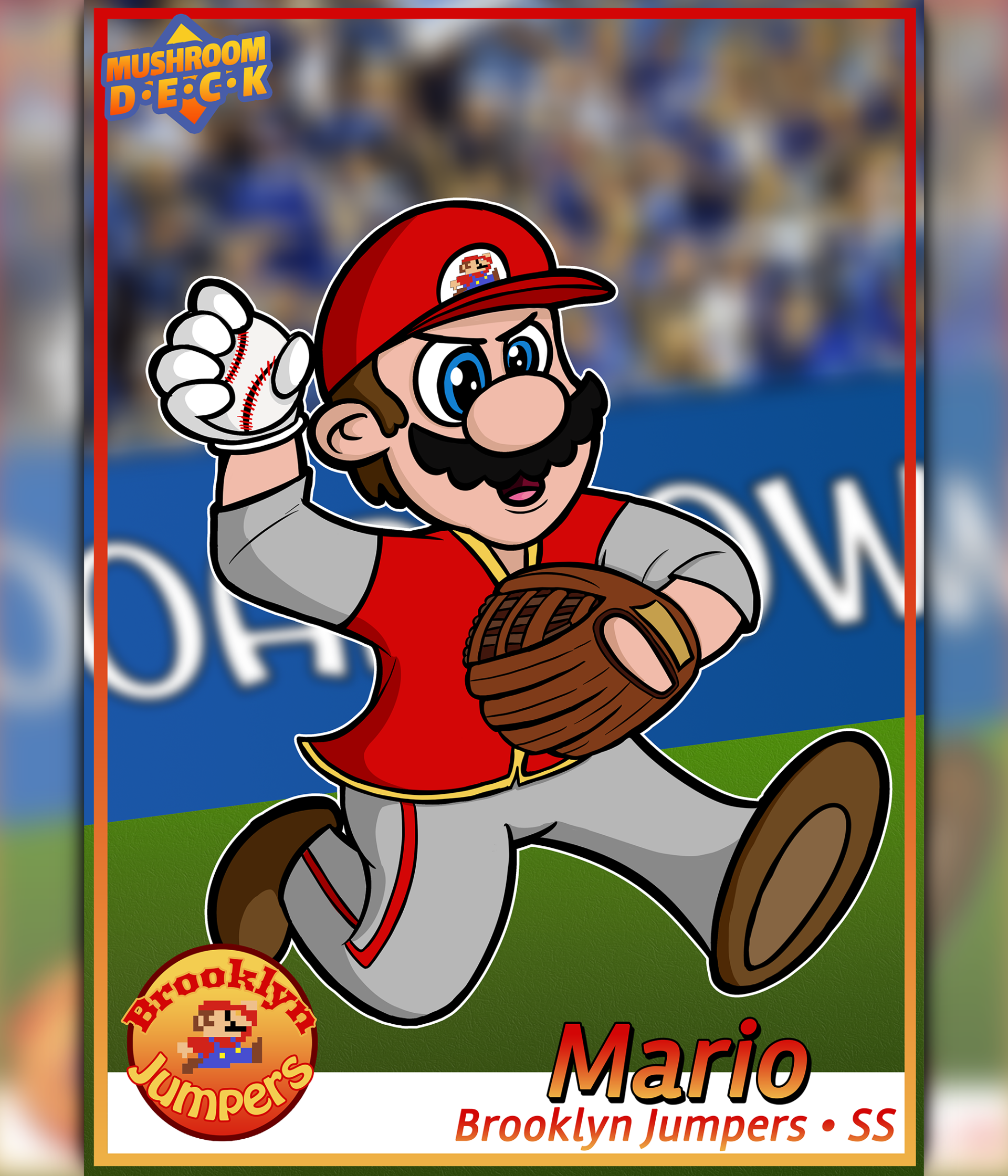 Super Mario Baseball Card