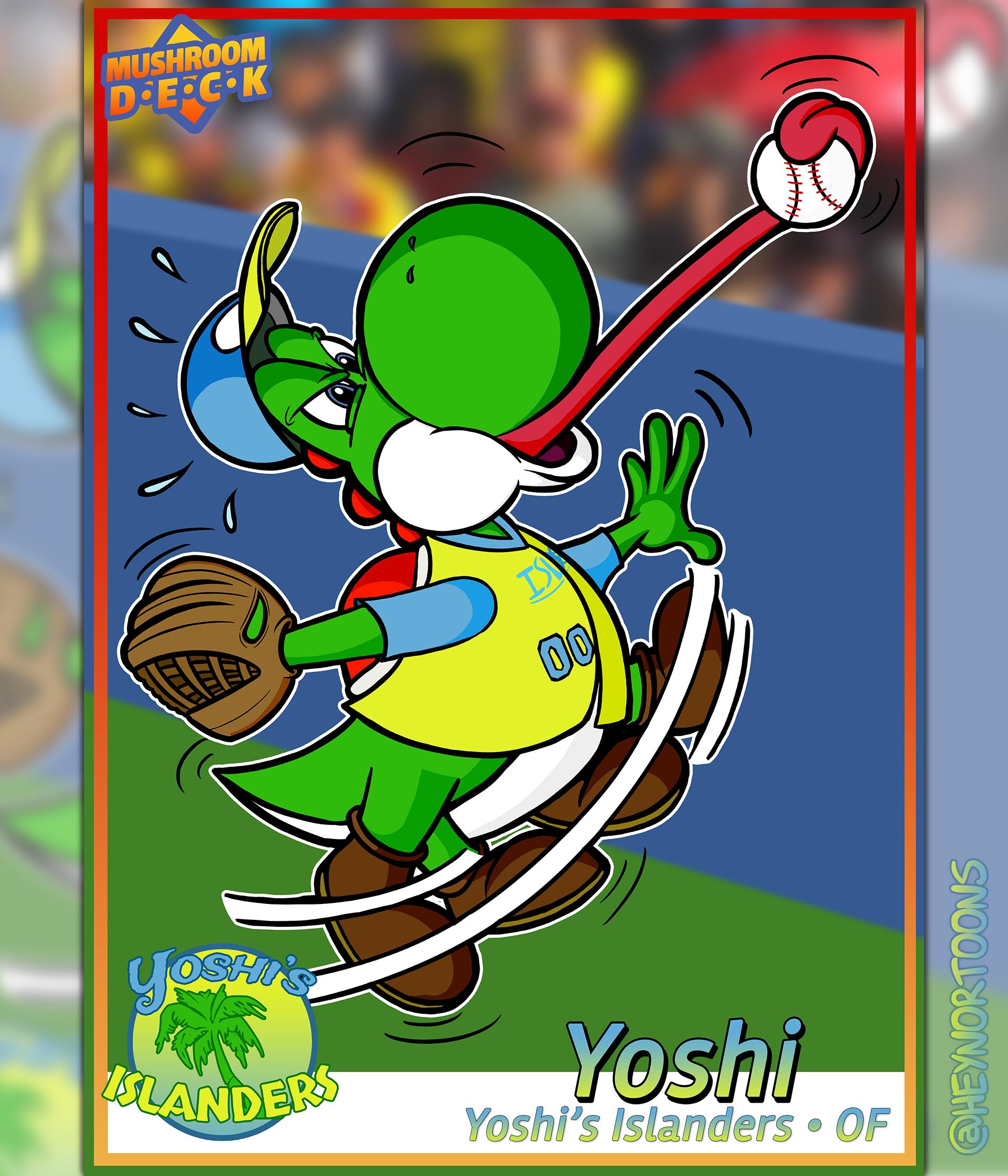 Yoshi Baseball Card