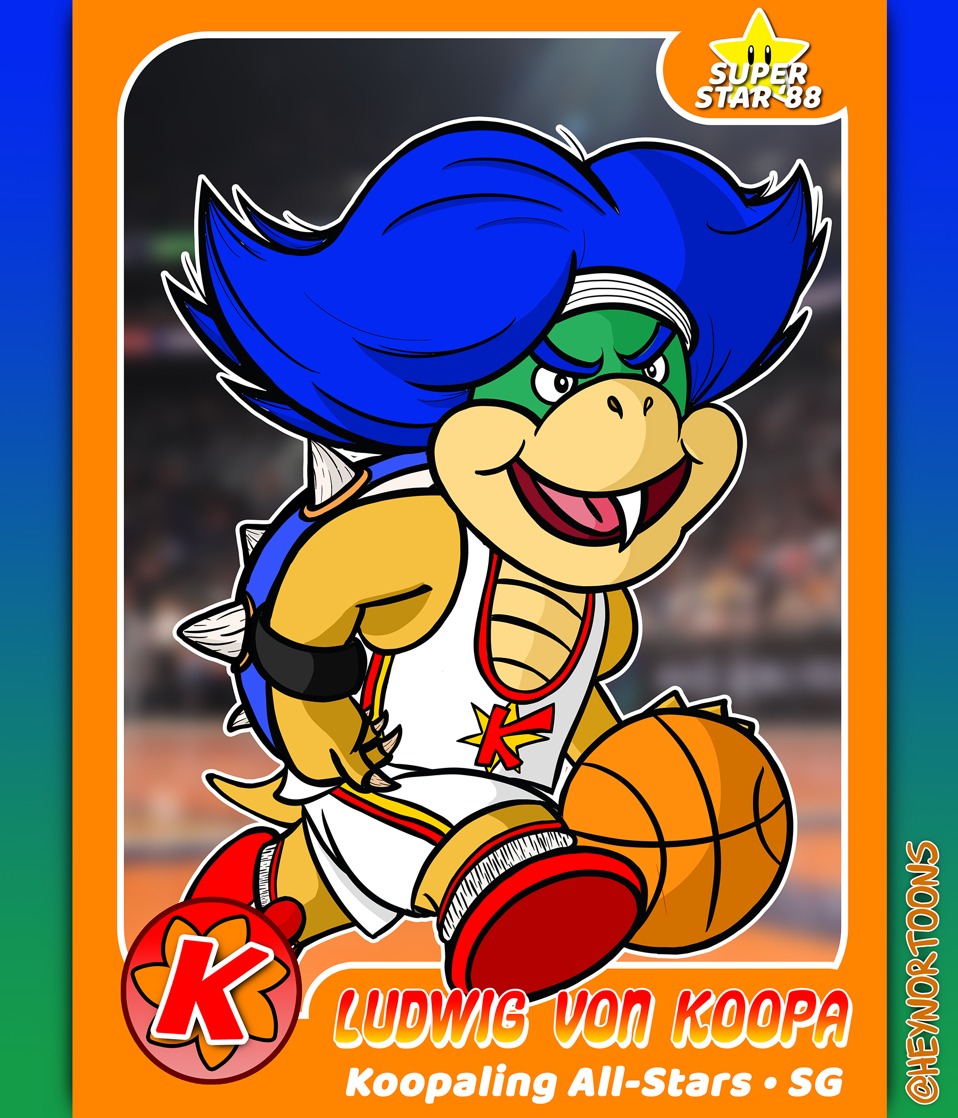Ludwig Von Koopa Basketball Card