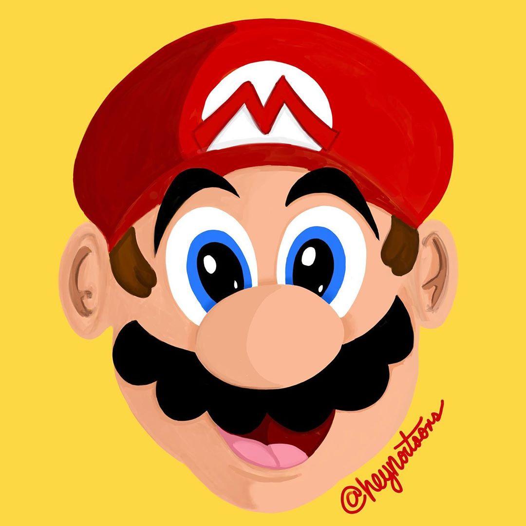 Super Mario Digital Painting