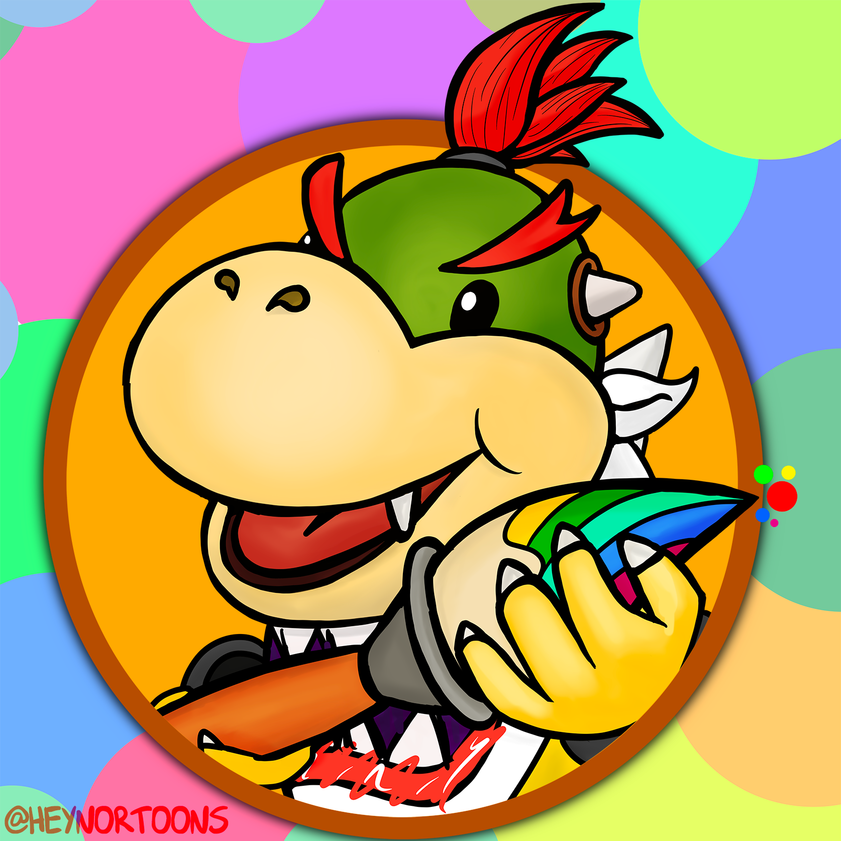 Bowser Jr. and his Paintbrush