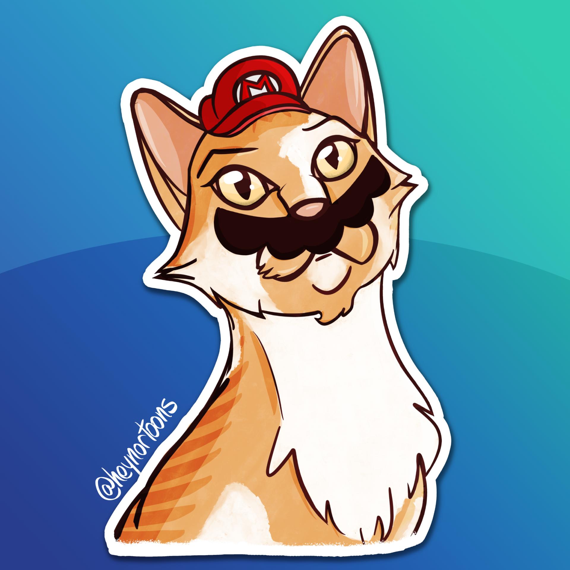 Mario Cat - Orange
