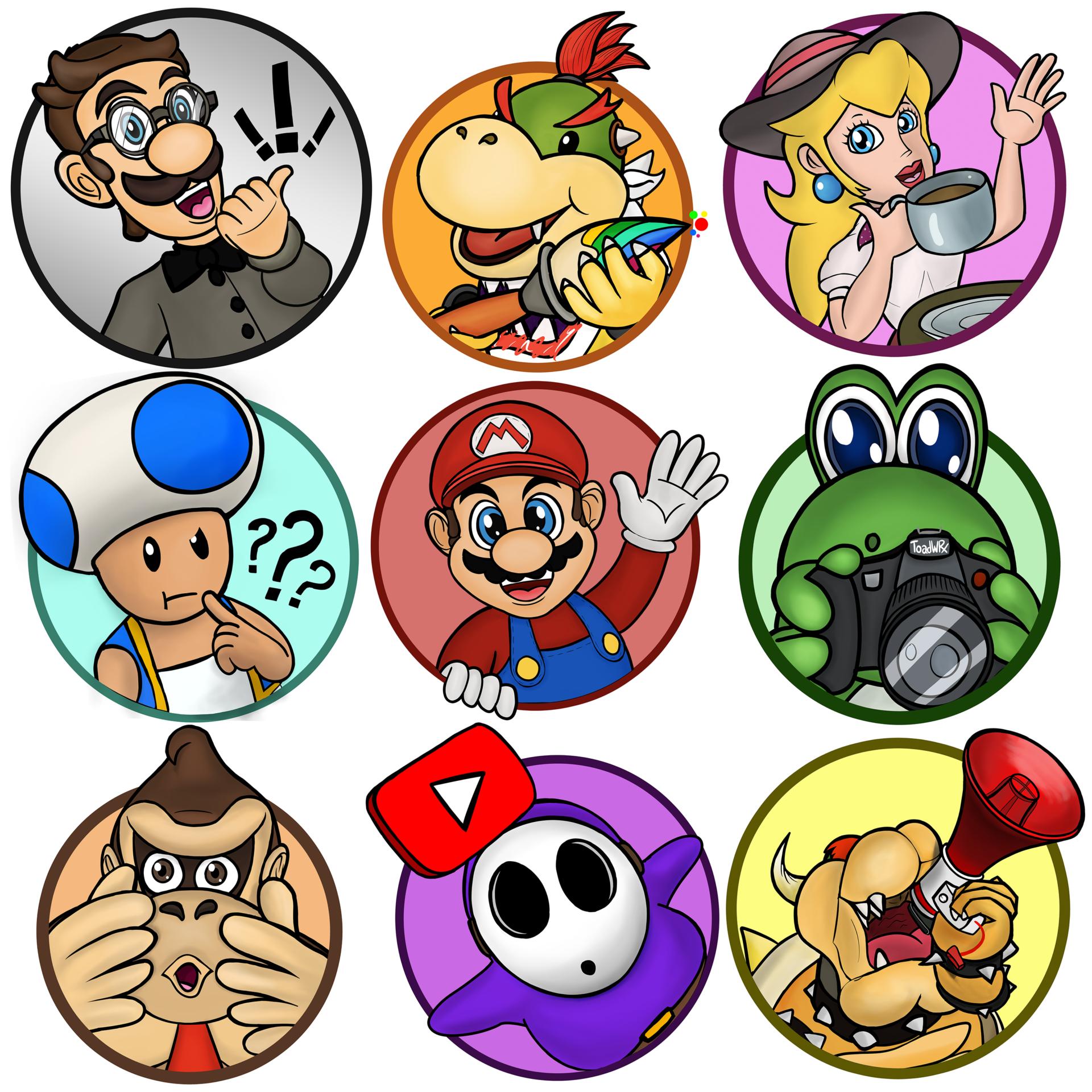 Super Mario Circular Flair Icons