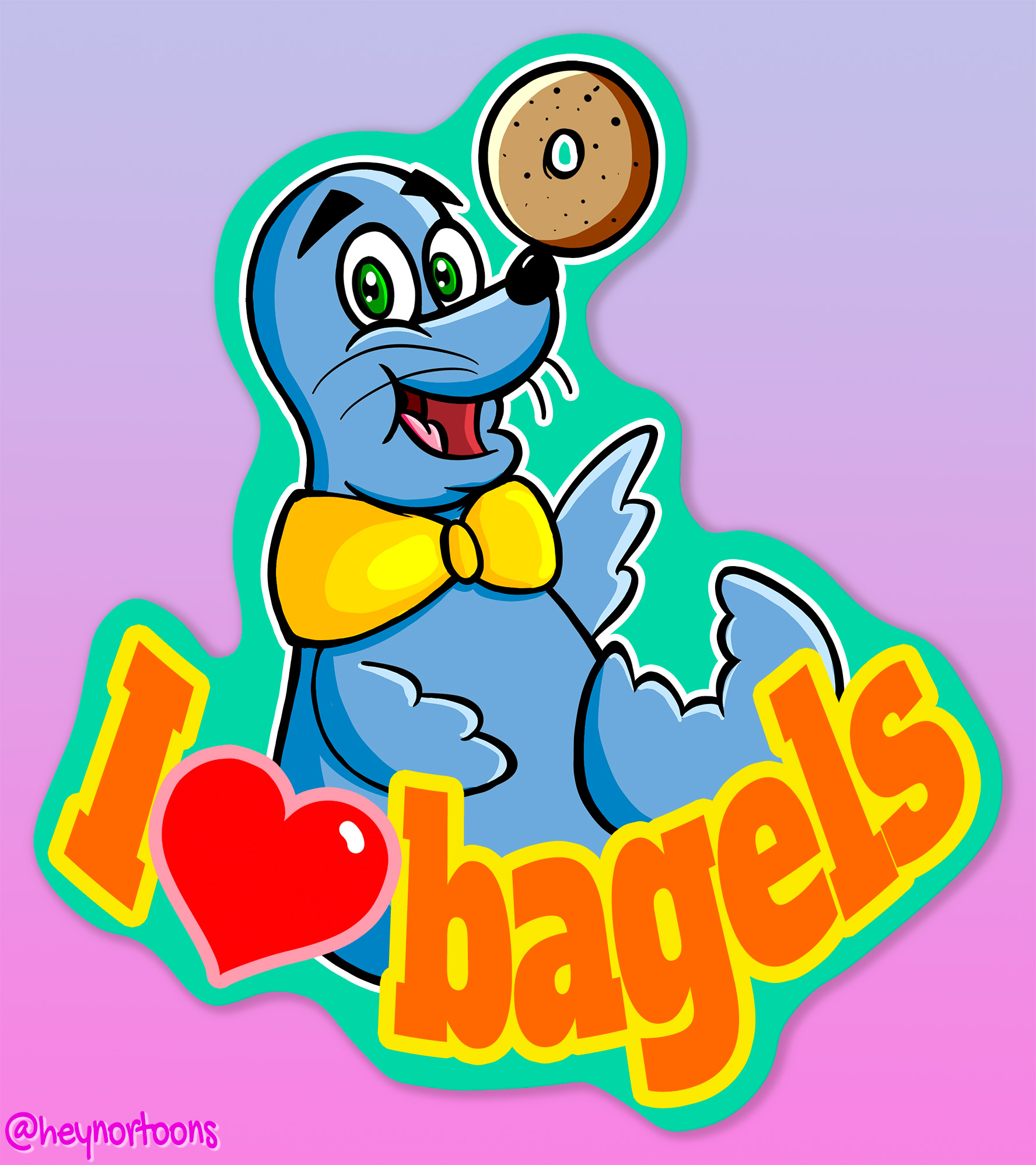 Buster the Seal (Blue Seal Bagels): I heart bagels